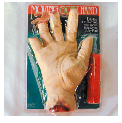 Obviously my hand looks nothing like this (not the most realistic practical joke prop)