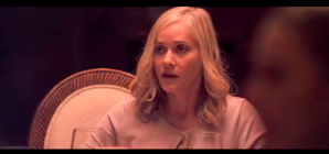 We actually thought at first (and second) sight that this was a shot of one of the younger actresses playing a daughter or a girlfriend. It is, in fact, Ms. Barbara Crampton herself ...looking amazing at 55.