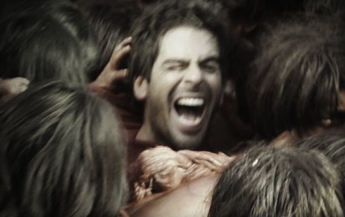 No, Eli Roth isn't IN the Green Inferno, it's Photoshopped (but still funny)