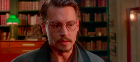 This isn't necessarily him in character, just a photo of Mr. Depp. We looked really hard for one of him appearing in the movie, too.